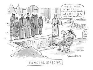 Funeral Director' - New Yorker Cartoon by Danny Shanahan
