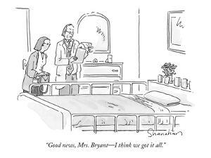 """Good news, Mrs. Bryant?I think we got it all."" - New Yorker Cartoon by Danny Shanahan"