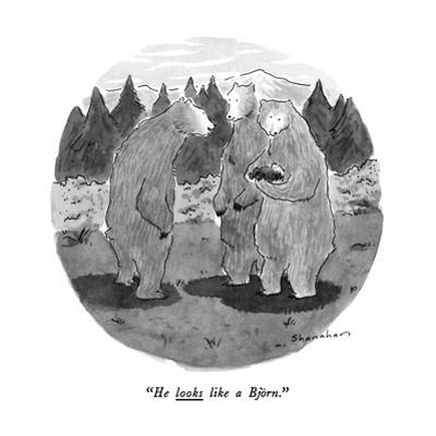 """He looks like a Björn."" - New Yorker Cartoon by Danny Shanahan"