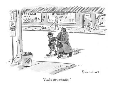 """I also do suicides."" - New Yorker Cartoon by Danny Shanahan"