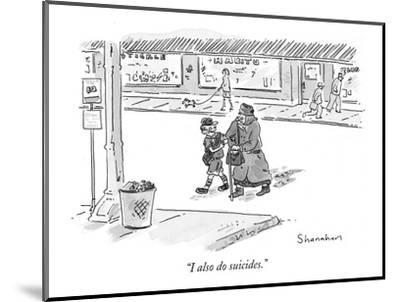 """""""I also do suicides."""" - New Yorker Cartoon by Danny Shanahan"""