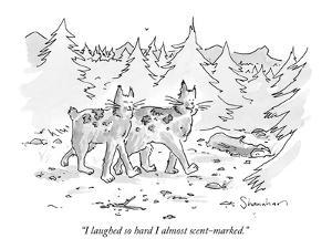 """""""I laughed so hard I almost scent-marked."""" - New Yorker Cartoon by Danny Shanahan"""