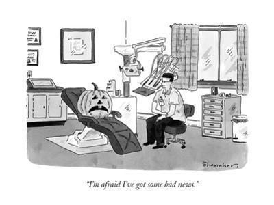 """I'm afraid I've got some bad news."" - New Yorker Cartoon by Danny Shanahan"