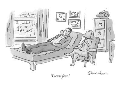 """I sense fear."" - New Yorker Cartoon by Danny Shanahan"