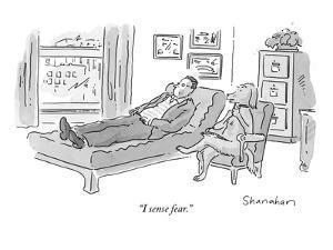 """I sense fear."" - New Yorker Cartoon by Danny Shanahan"