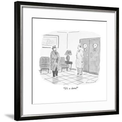 """It's a dame!"" - New Yorker Cartoon by Danny Shanahan"