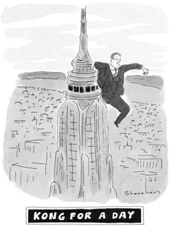 Kong For A Day - New Yorker Cartoon by Danny Shanahan