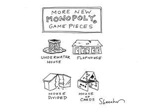 More new Monopoly game pieces - Cartoon by Danny Shanahan