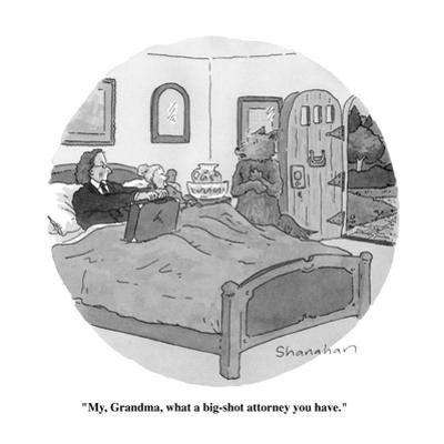 """My, Grandma, what a big-shot attorney you have."" - New Yorker Cartoon by Danny Shanahan"