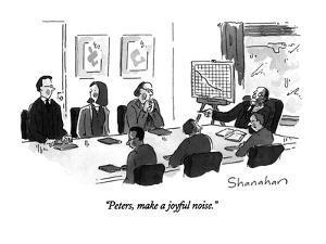 """Peters, make a joyful noise."" - New Yorker Cartoon by Danny Shanahan"