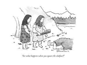 """""""See what happens when you square the clubface?"""" - New Yorker Cartoon by Danny Shanahan"""