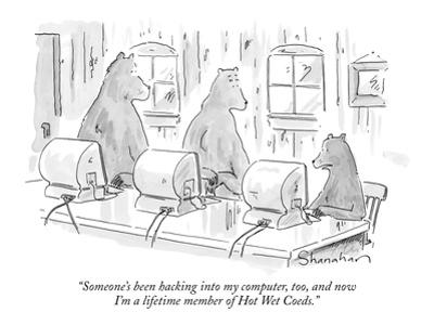 """""""Someone's been hacking into my computer, too, and now I'm a lifetime memb…"""" - New Yorker Cartoon by Danny Shanahan"""