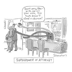 """""""Superpower of Attorney"""" - Cartoon by Danny Shanahan"""