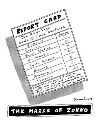 The Marks of Zorro - New Yorker Cartoon by Danny Shanahan