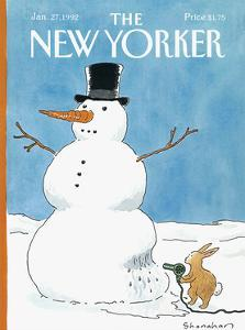 The New Yorker Cover - January 27, 1992 by Danny Shanahan