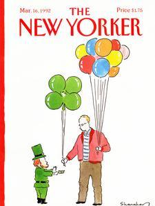 The New Yorker Cover - March 16, 1992 by Danny Shanahan
