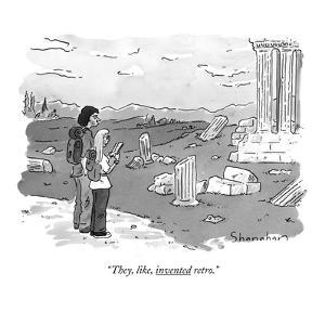 """They, like, invented retro."" - New Yorker Cartoon by Danny Shanahan"