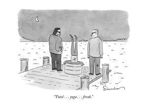 """Total . . . yoga . . . freak."" - New Yorker Cartoon by Danny Shanahan"