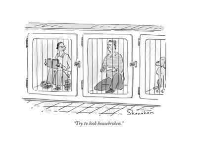 """Try to look housebroken."" - New Yorker Cartoon by Danny Shanahan"