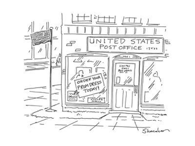 United States Post OfficeOrder your Prom Dress Today - Cartoon by Danny Shanahan