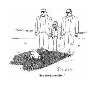 """""""You didn't see nothin'."""" - Cartoon by Danny Shanahan"""