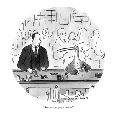 """""""You want your olive?"""" - New Yorker Cartoon by Danny Shanahan"""
