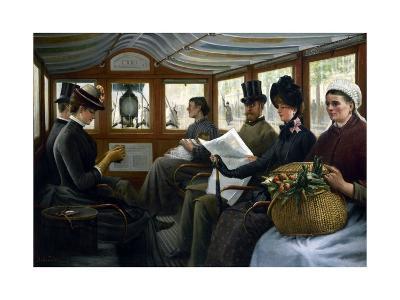 Dans l'omnibus-Maurice Delondre-Giclee Print