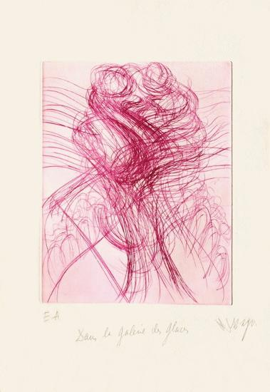 Dans la Galerie des Glaces-Jean Messagier-Limited Edition