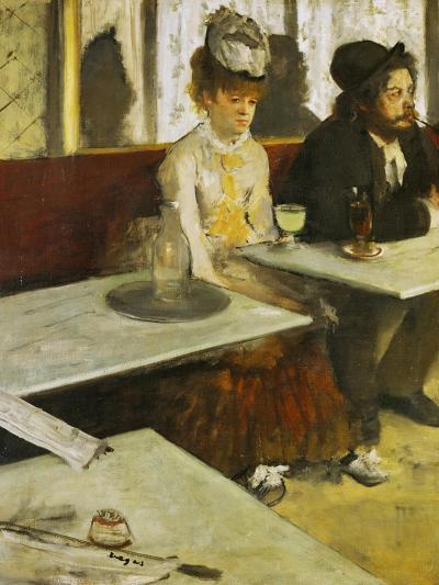 Dans Un Cafe or L'Absinthe, Ellen Andree and Marcellin Desboutin, Around 1875-1876-Edgar Degas-Giclee Print
