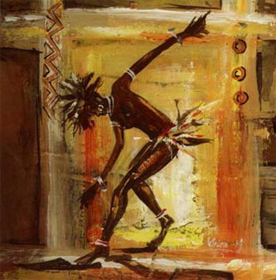 Danseur III-Melain N'zindou-Art Print