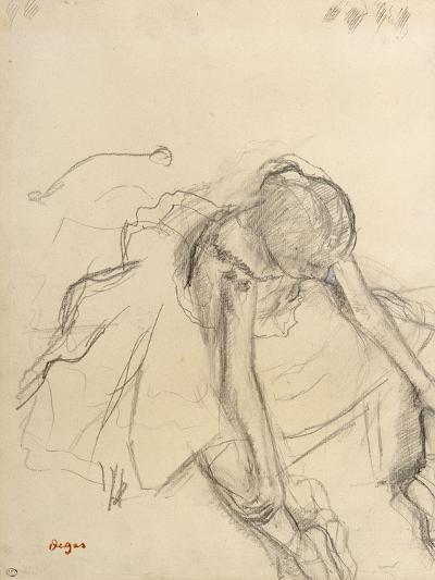 Danseuse assise, essayant ses pointes-Edgar Degas-Giclee Print