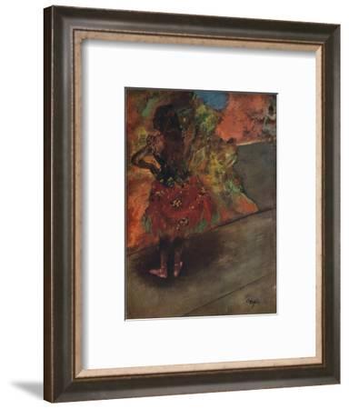'Danseuse: Jupe Rouge', c1895-Edgar Degas-Framed Giclee Print