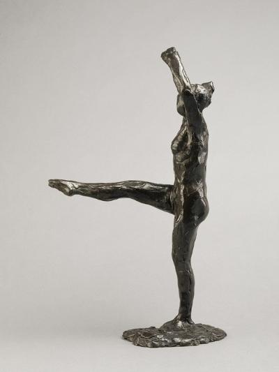 Danseuse, position de quatrième devant sur la jambe gauche, première étude-Edgar Degas-Giclee Print