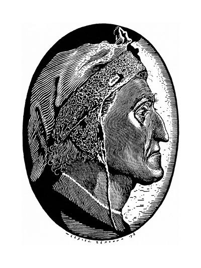 Dante Alighieri (1265-132), 1918-Sergei Vasilievich Chekhonin-Giclee Print