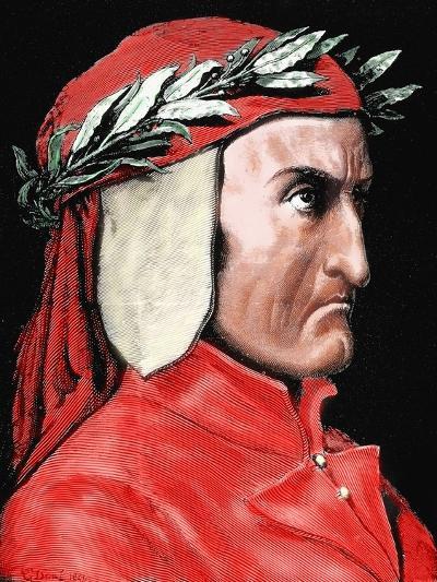 Dante Alighieri (1265-1321). Italian Poet by Pannemaker-Prisma Archivo-Photographic Print