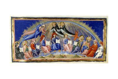 Dante and Beatrice in the Sphere Of the Sun Being Greeted by Aquinas and Albertus Magnu