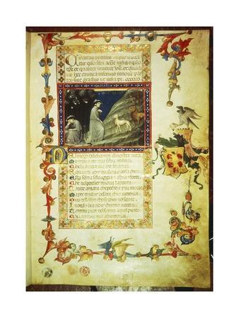 First Page of First Canto of Inferno, Miniature from Divine Comedy