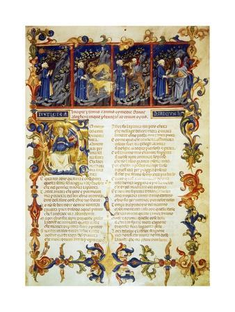 Illuminated Page from the Divine Comedy, Inferno, Canto I