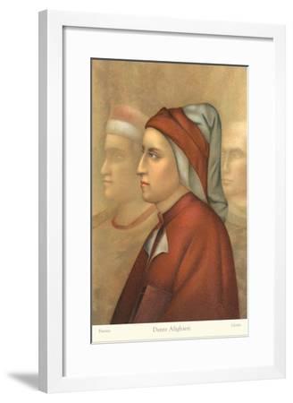 Dante Alighieri in Florentine Hat--Framed Art Print