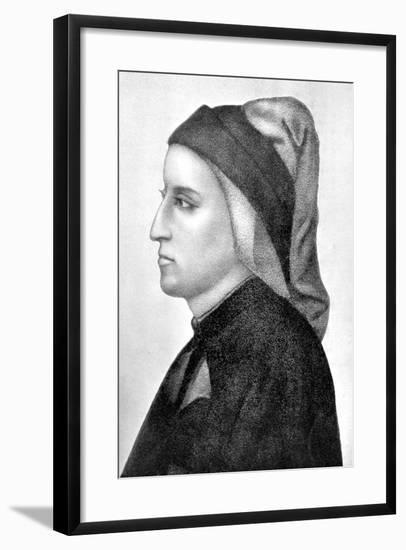 Dante Alighieri, Italian Florentine Poet-Giotto-Framed Giclee Print