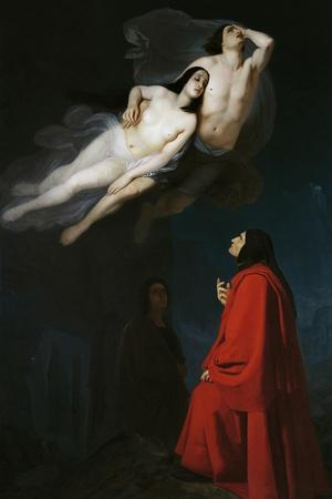 Paolo and Francesca in Conversation with Dante and Virgil, Episode from Divine Comedy