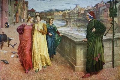 Dante and Beatrice, 1883-Henry Holiday-Giclee Print