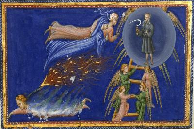 Dante and Beatrice Ascending To the Heaven Of Saturn-Dante Alighieri-Giclee Print