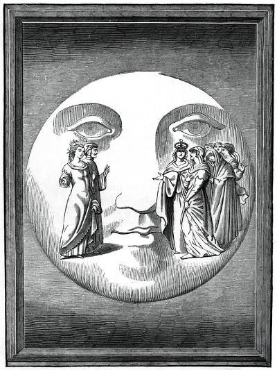 Dante and Beatrice Transported to the Moon, 16th Century--Giclee Print