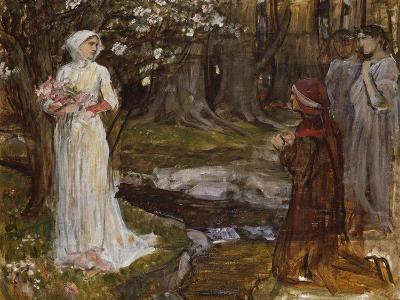 Dante and Beatrice-John William Waterhouse-Giclee Print