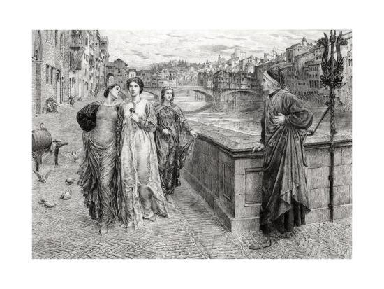 Dante and Beatrice--Giclee Print
