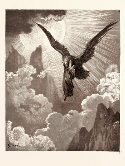 Dante and the Eagle-Gustave Dore-Giclee Print