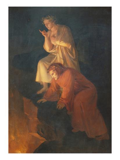 Dante and Virgil, 1855-Rafael Flores-Giclee Print