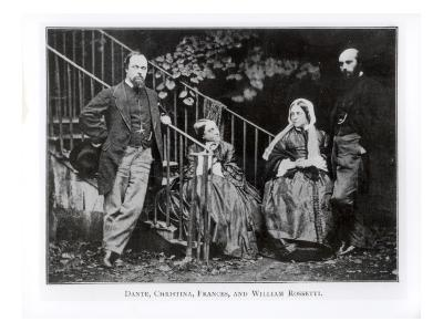 Dante, Christina, Frances and William Rossetti-English Photographer-Giclee Print