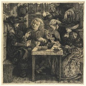 Dr. Johnson at the Mitre, 1860 by Dante Gabriel Charles Rossetti
